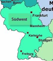 Karte Regionalverband Südwest